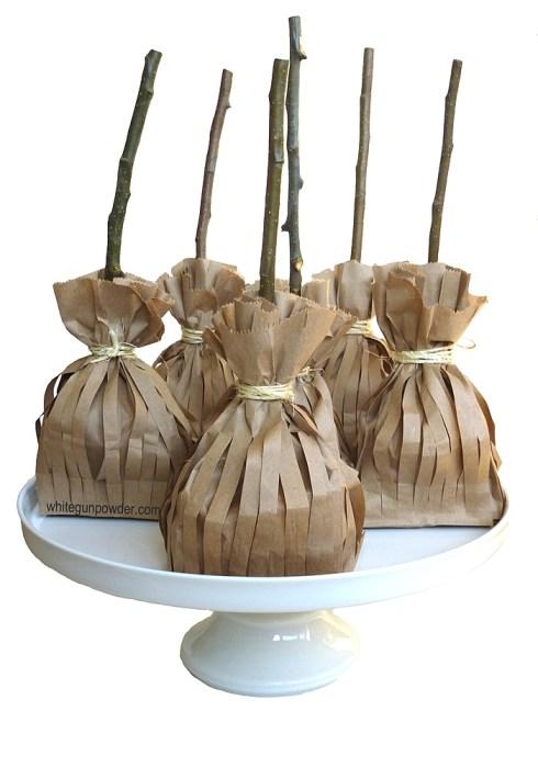 paper broomstick bags