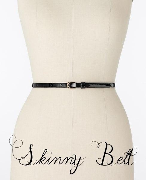 Skinny black belt