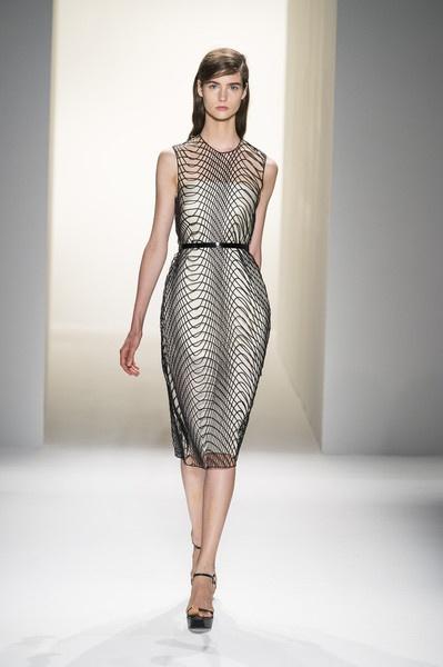 Skinny belt, black dress Calvin Klein 2013-1