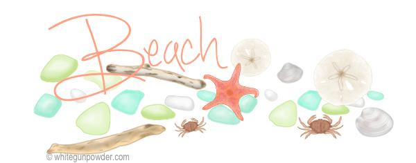 Beach illustrations KS