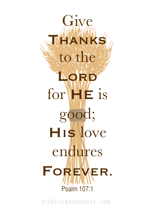 Give Thanks to the Lord… Psalm 107:1