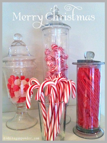 Gingerbread house ~ Christmas candy jars