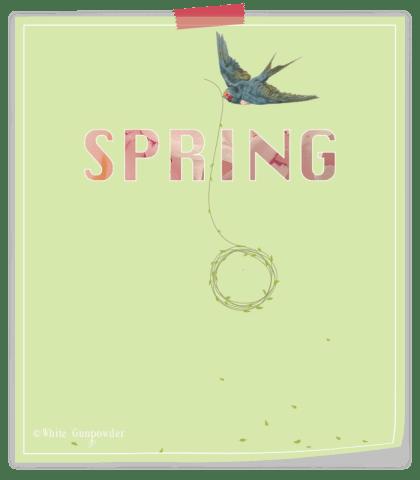 Spring printable {bird/wreath}