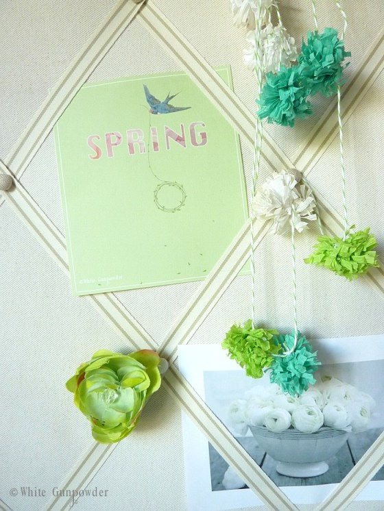 spring inspiration board
