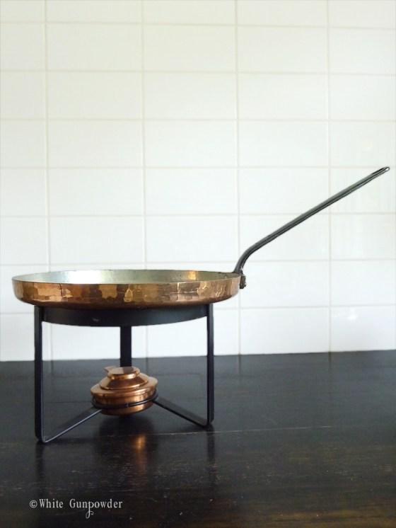 French copper pots & pans
