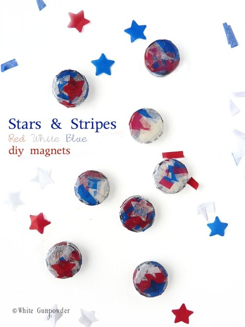 diy red white blue Magnets