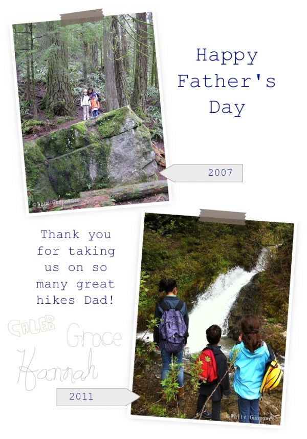 Father's Day, hiking with kids