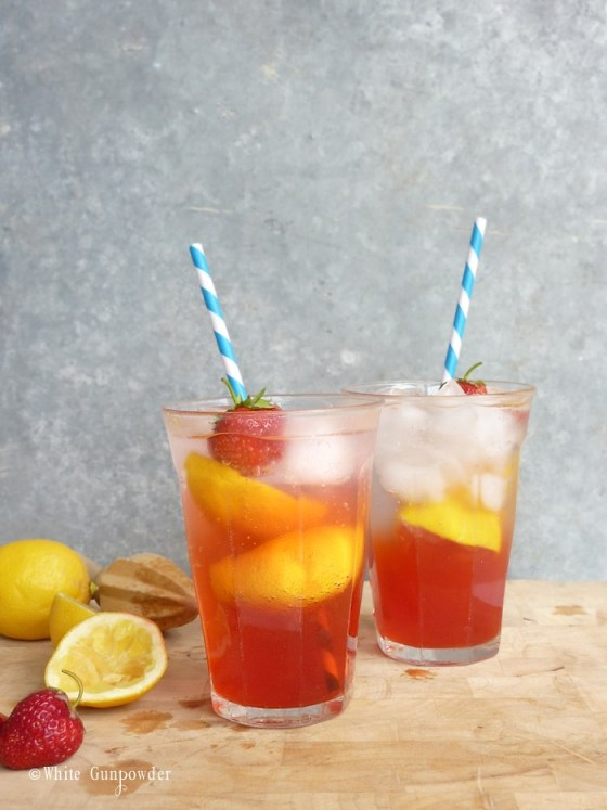 Summer, strawberry lemonade