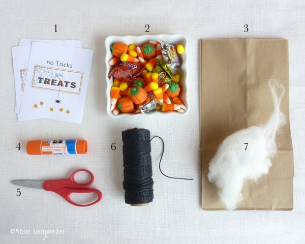 Halloween treat bags, supplies