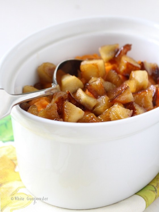 Whipped Sweet Potatoes with Caramelized Apples