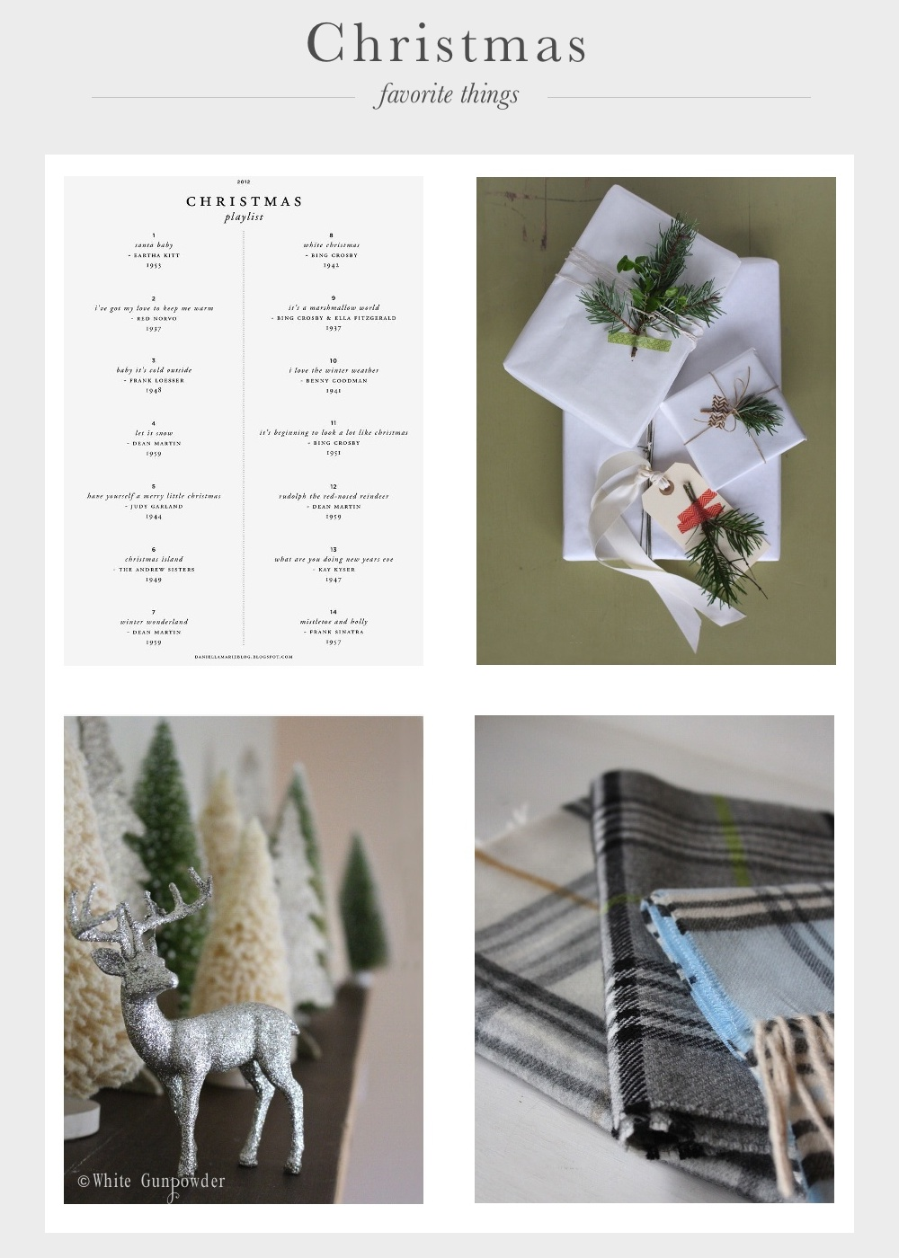 The Christmas Season, Favorite Things, and a Giveaway-Wh...