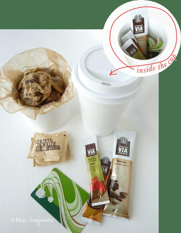 Packaging, chocolate chip cookies & coffee