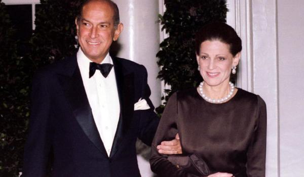 Oscar de la Renta and Annette Reed, pic 10-21-14
