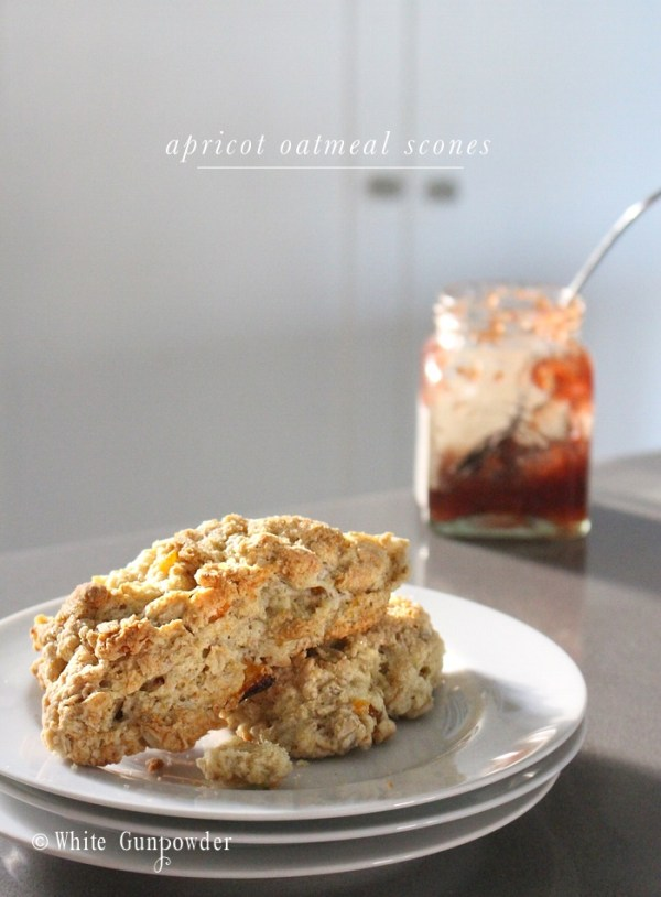 Apricot Oatmeal Scones