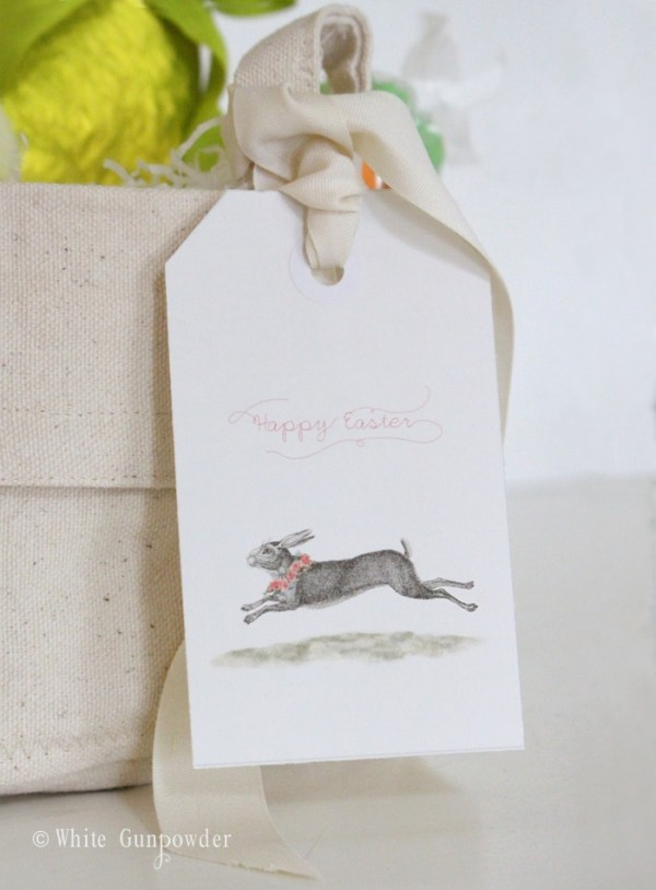 Easter, rabbit  printable tags pic1 w700 x 950h PXM-1-1