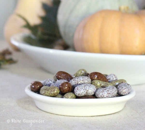 Fall decorations -chocolate beans