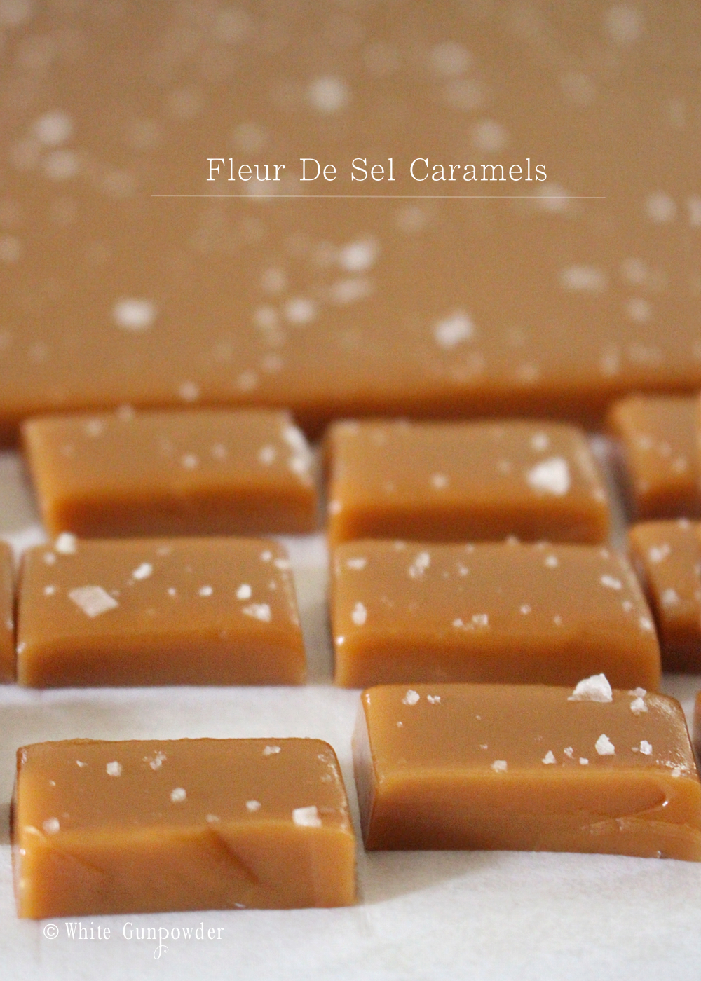 Fleur De Sel Caramels - White Gunpowder
