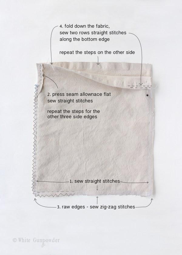 Vintage clothespin bag