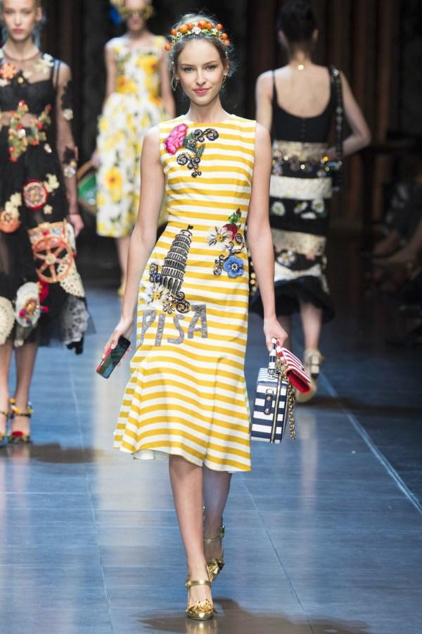 Fashion-stripes, Dolce Gabbana Spring 2016 wh1000
