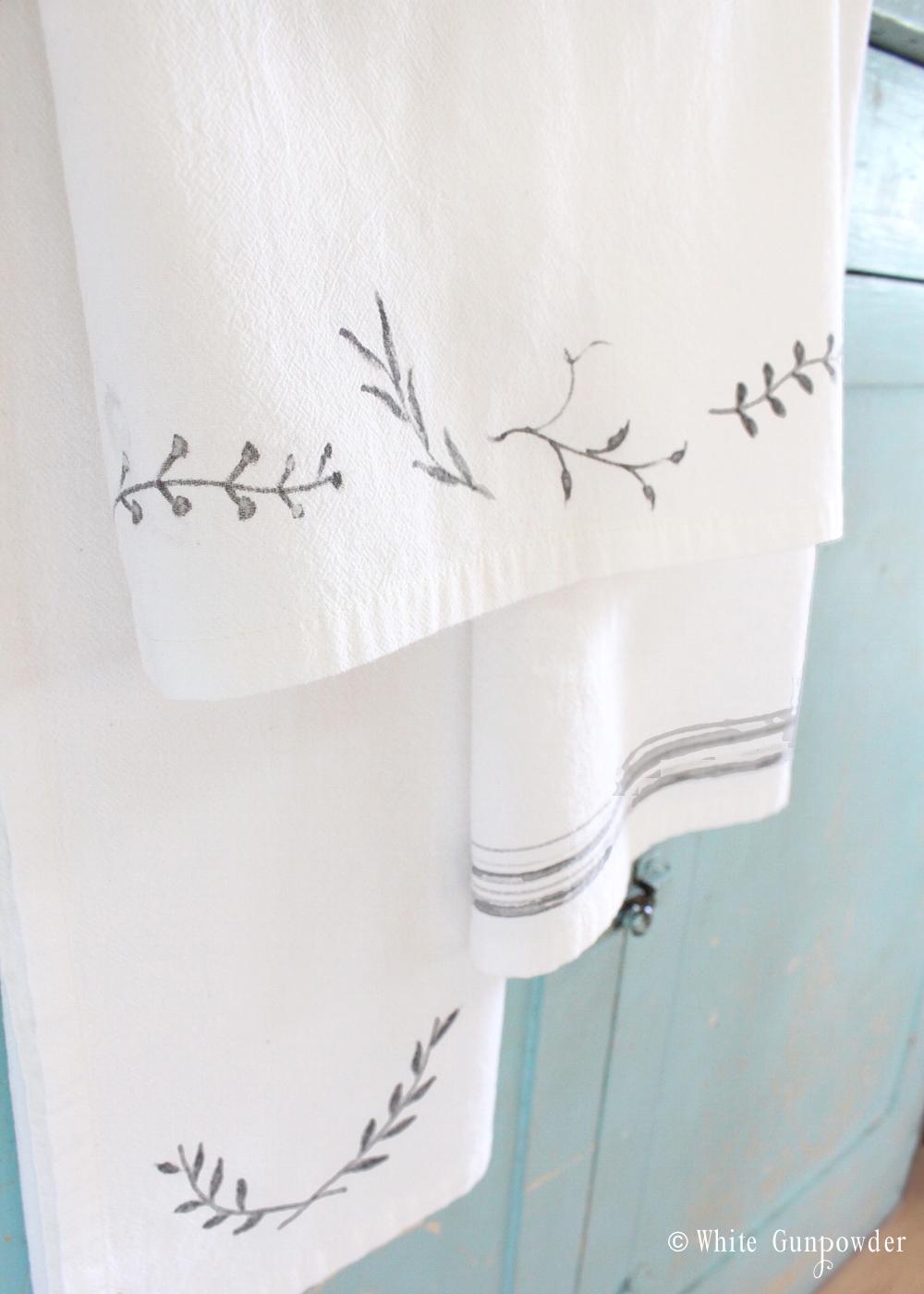 diy Flour Sack Towels and Fabric Markers - White Gunpowder