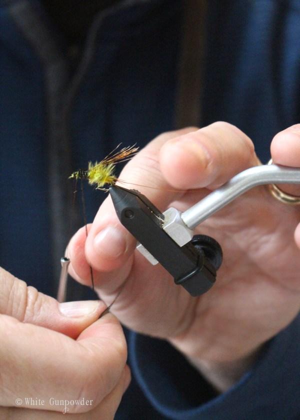 Postfly Box, Fly tying, Father's Day gifts - white gunpowder
