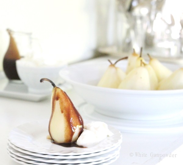 recipe- poached pears