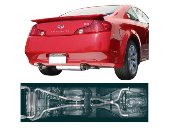 stillen stainless steel exhaust system dual wall tips 504360d infiniti g35 coupe
