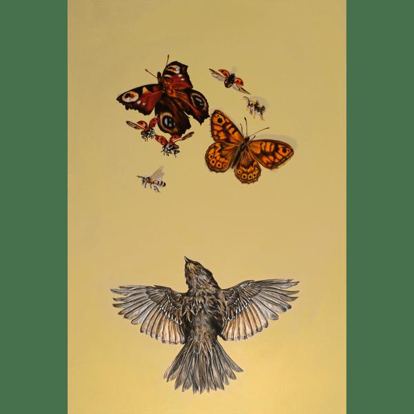 FlutterFlutterbies - Natalie Toplass - Limited Editionbies - Natalie Toplass - Original Artwork