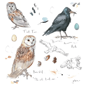 Sketchbook Owl and Rook - Madeleine Floyd - Limited Edition