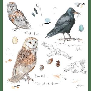 Sketchbook Owl and Rook - Madeleine Floyd - Limited Edition