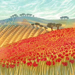 Patchwork Poppies - Rebecca Vincent - Limited Edition