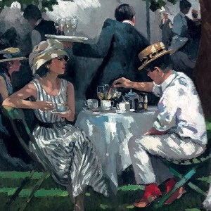Afternoon Tea At Ascot - Sherree Valentine Daines - Limited Edition