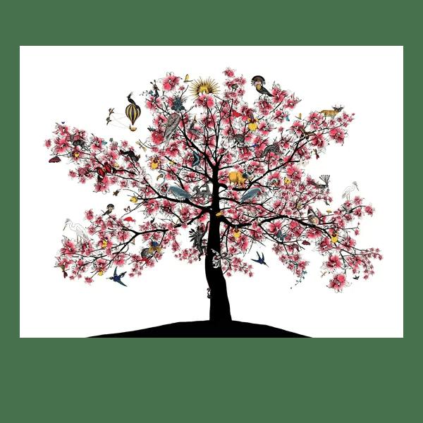 Bleika Sakura Candy Floss Tree - Kristjana S Williams - Limited Edition