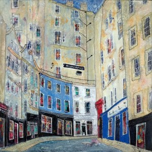 The Old Town Edinburgh - Katharine Dove - Original Artwork