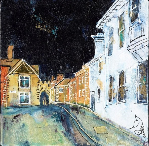 Back Streets Salisbury - Katharine Dove - Original Artwork