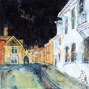 Back Streets Salisbury - Katharine Dove - Original Artwork