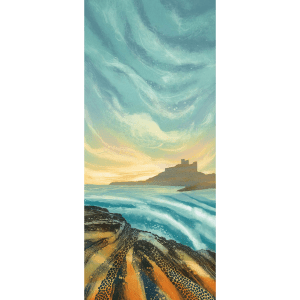 Evening Light Bamburgh - Rebecca Vincent - Limited Edition