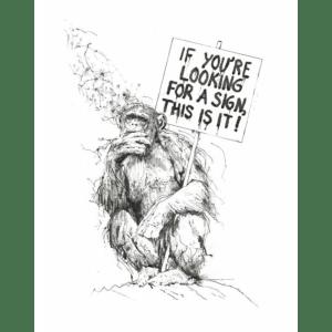 If You're Looking For A Sign – Scott Tetlow – Original Art