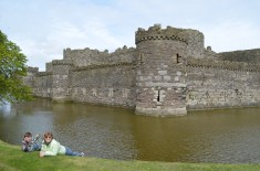 "Beaumaris Castle - - The most ""technically perfect castle in Great Britain with four successive lines of fortification."