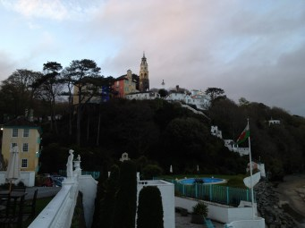 "Portmeirion--a surreal seaside ""village"" made from bits of rescued architecture, the setting for the TV series The Prisoner."