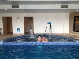 Relaxing in our The Quay Hotel spa