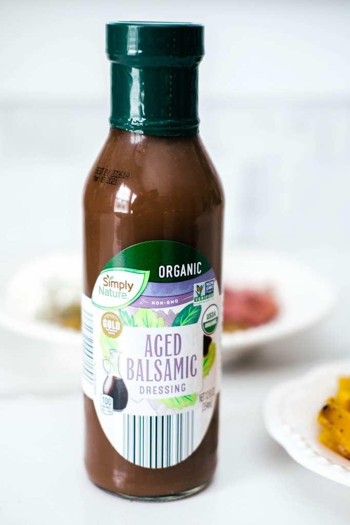 balsamic dressing in a jar
