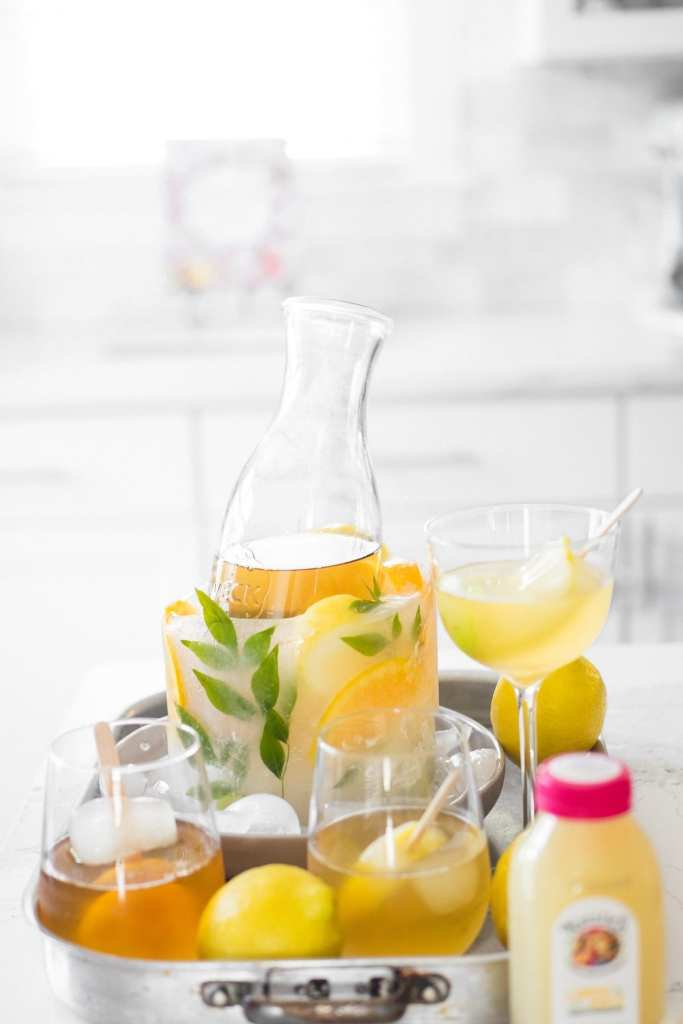 sweet tea cocktail set up