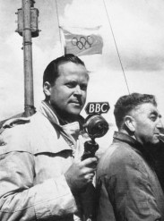 'OLYMPISKA SPEL' - A Swedish commentator, Torsten Folin, reports the Olympic yachting at Torbay. During the Games West Region provided facilities for broadcasts to twenty-three nations.