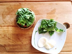 gesundes Frühstück Salat Burger