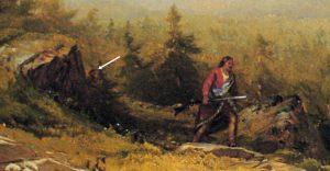 Detail Indian Guide, Mount Chocorua by Aaron Draper Shattuck