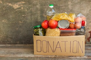 food, donation, box