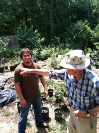 Lester Davis of COlumbus sharing his Nursery wisdom with Jesus