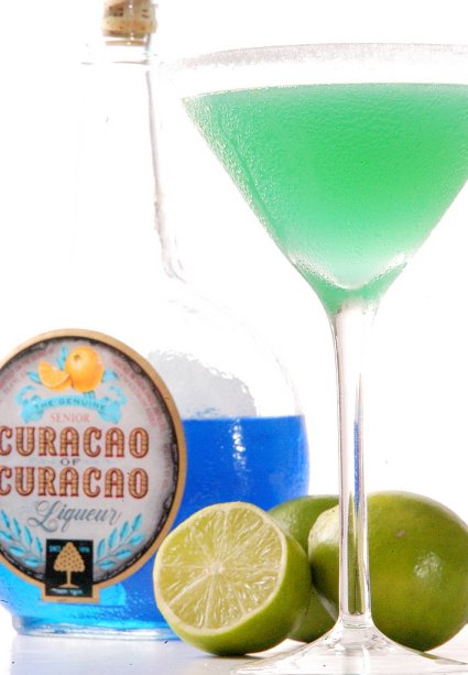 Curacao and rum Cocktail recipe called the Island Taxi - @whiteonrice