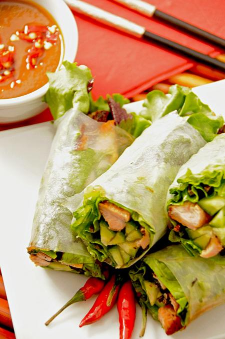 grilled-pork-spring-rolls recipe